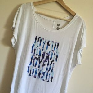 GAIAM Joyful Soft Graphic Tee Sz M